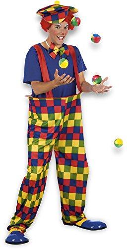 Costume Carnaval : Deguisement Clown Rayé Homme