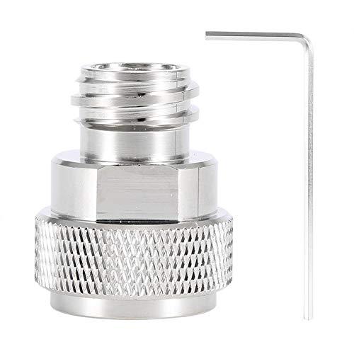 Tarente Messing CO2 Adapter ersetzen Behälter Kanister Konvertierung for Sodastream (Silber)