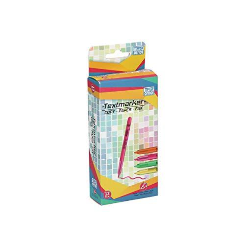 TTO Markeerstiften fluorescerend 12 stuks, roze