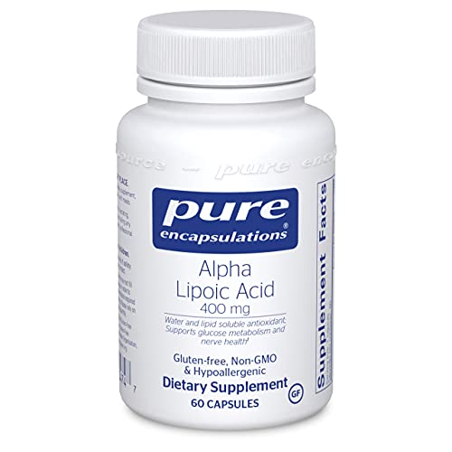 Pure Encapsulations Alpha Lipoic Acid 400 mg   ALA Supplement for Liver Support, Antioxidants, Nerve and Cardiovascular Health, Free Radicals, and Glucose Support*   60 Capsules