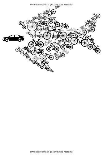 Umweltschutz Fahrrad Fisch: Notizbuch DIN A5 Liniert 120 Seiten Fahrrad frisst Auto MTB Mountainbike Rennrad Downhill Radsport Bike Geschenkidee & ... Planer Tagebuch Notizheft Notizblock