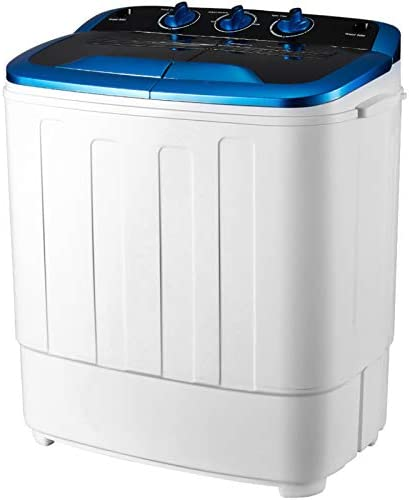 HOMHUM Portable Mini Compact Twin Tub Washing Machine w Wash and Spin Cycle 13 lbs 2IN1 Washer product image