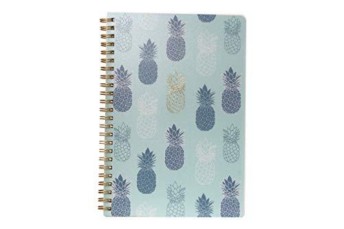 Caderno A5 Espiral Com Capa Pp Coleção Mojito - Abacaxi Azul Miolo:160 Páginas80G/M²PautadoBranco