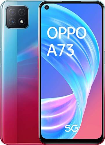 """OPPO A73 5G – Pantalla de 6.5"""" (AMOLED, 8GB +128GB, MT6853V, 4040mAh, Triple Cámara con IA, carga rápida 18W, Dual Sim Android 10) Neon [Versión ES/PT]"""