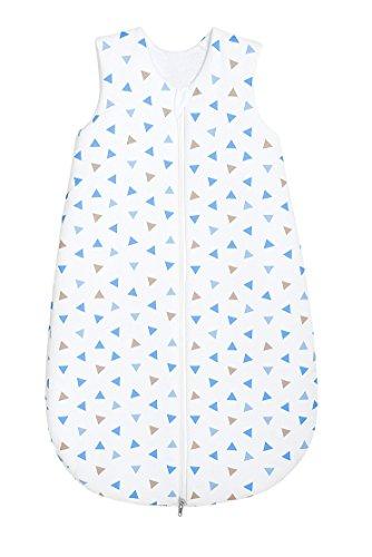 Odenwälder Jersey-Schlafsack Basic Dreiecke blau, Größe:110