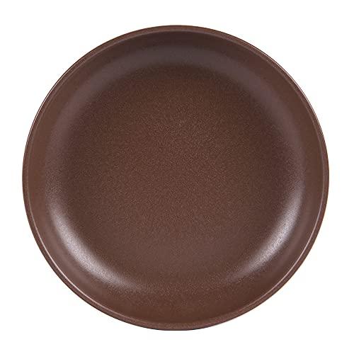 Table Passion - Platos hondos (22 cm, 6 unidades), color chocolate