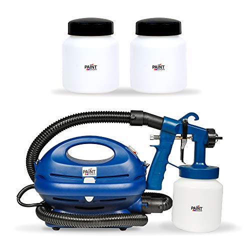 Paint Zoom Pro Handheld Electric Spray Gun Kit | 925 watt Spray Gun Tool for Interior & Exterior Home | HVLP | Painting w/ 2 Extra Containers