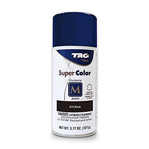 TRG Color Spray Leather Plastic Vinyl Paint/dye 3.7 oz. | Easy DIY Application| Shoe Care Renew Spray Color Dye (Black 615)