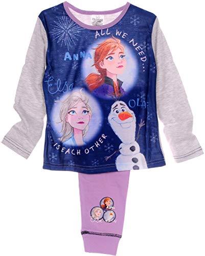 Anna Elsa Pyjama Kinder Schlafanzug Frozen 2 Eiskönigin 104 110 116 122 128 140 (4-5 Jahre)