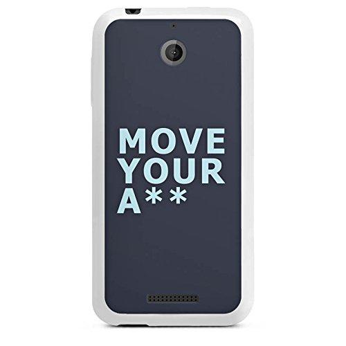 Cover kompatibel mit HTC Desire 510 Silikon Hülle Hülle weiß - Move