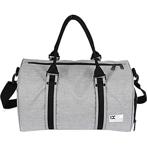 Bolsa de Deportes Gimnasio Deporte Duffle Weekender Duffel Bag Women Big Wet Compartimiento Gimnasio Zapato Bolsa de Viaje (Color : Grey, Size : One Size)
