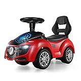 LKJCZ Twist Car, Balance Bike Trotter para niños con una Historia Musical Baby Scooter con Cuatro Ruedas Sube a un Juguete Giratorio para niños,Red