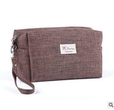 sac de cosmétiques de linge portatif, sac de voyage de grande capacité,café