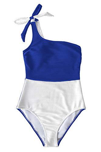 CUPSHE Bañador para Mujer Anudado Color Block Traje de Baño, XXL