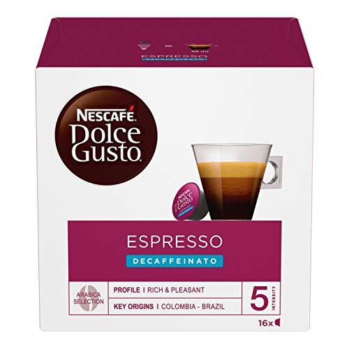 NESCAFÉ Dolce Gusto Espresso Decaffeinato Espresso Espresso Decaffeinato 6 Packungen 16 Kapseln (96 Kapsel)