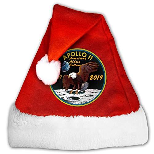 Kenice Sombreros De La Navidad,Sombreros De Fiesta,Sombreros para Adultos,Navideo Gorras,Gorro De Navidad,Nios Y Adultos Gorro De Felpa Santa,Logotipo del 50 Aniversario del Apolo 11 M