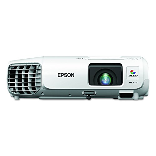 Epson V11H694020 PowerLite S27 SVGA 3LCD Projector 2700 Lumens 800 x 600 Pixels 1.35x Zoom White