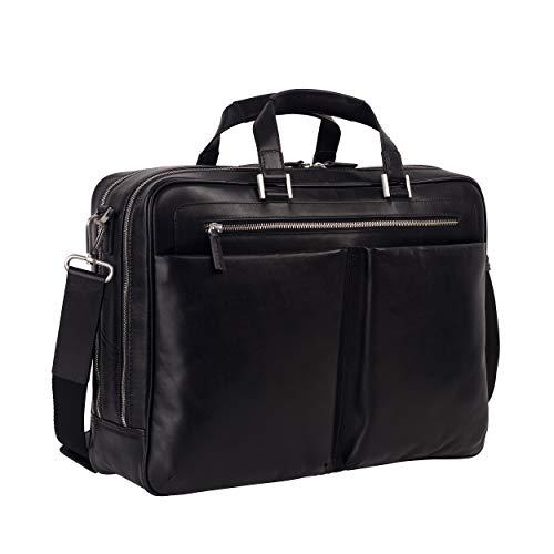 Leonhard Heyden Briefcase w/zip 2 main compartments 15' Chicago Pelle I