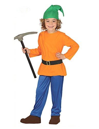 Generique - Fleißiger Zwerg Kostüm für Kinder bunt 122/134 (7-9 Jahre)