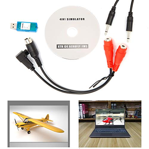 USB Flight Simulator Cable for DX5e Dx6i DX7 JR Futaba RC RealFlight Spektrum Esky FMS (Practice with Your RC Helicopter Controller on PC)