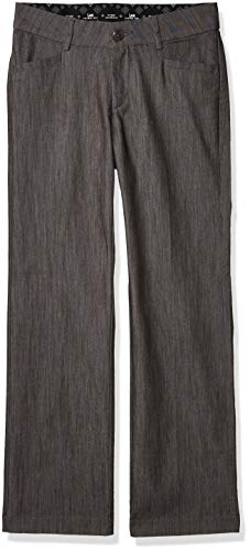 LEE Women's New Midrise No Gap Madelyn Trouser, Carbon Rinse, 10