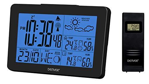 Denver WS-530 Weerstation met buitensensor, alarmfunctie, evenals meting van temperatuur en luchtvochtigheid zwart