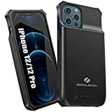 ZEROLEMON iPhone 12 & iPhone 12 Pro Battery Case 5000mAh, Wireless Charging Supported, SlimJuicer Portable Rechargeable Extended Battery Charger Case for iPhone 12/12 Pro 6.1' 2020 - Black