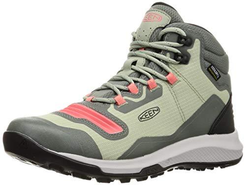 KEEN Women's Tempo Flex Mid Height Lightweight Waterproof Hiking Boot, Castor Grey/Dubarry, 8