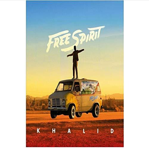 PDFKE Khalid Free Spirit Music Cover 2019 álbum póster artístico Lienzo Pintura decoración del hogar-20x 28 Pulgadas sin Marco