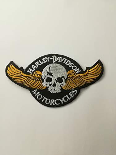 - Parche de plancha de Harley Davidson, también para coser, de aprox. 14x 7,5cm