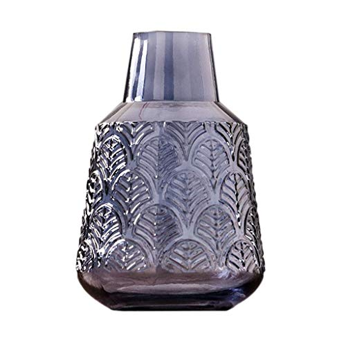 Florero de cristal para cristalería, elegante florero de cristal de color hecho a mano decorativo florero hidropónico de decoración transparente para decoración del hogar para la decoración de la sa