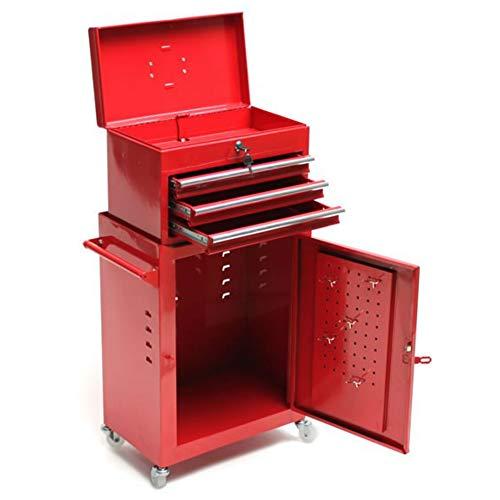 TronicXL Premium Werkzeugwagen Werkstattwagen Rollwagen + Werkzeug Koffer Set Werkstatt Vintage...