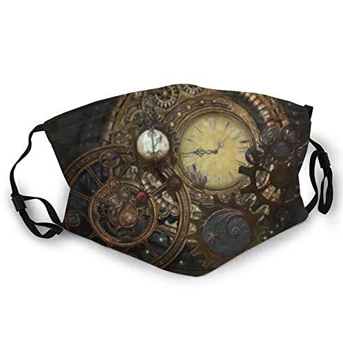 Unisex Face Ma_sks Transpirable Lavable y Reutilizable, Reloj Steampunk Protege la cara Pañuelo Pañuelo Pasamontañas para adolescentes y adultos Uso diario