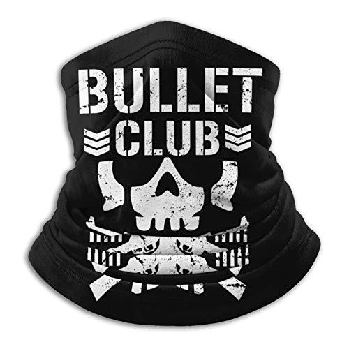 Bullet Club Windproof Scarf Womans Men's Face Mask Bandanas Black