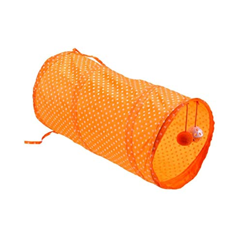 MaylFre Pet Tunnel-Schlauch-Spielzeug Zusammenklappbaren Hund Katze Rohr Spielen Spielzeug Interaktives Training Toy Welpen Kitty Tunnel Orange