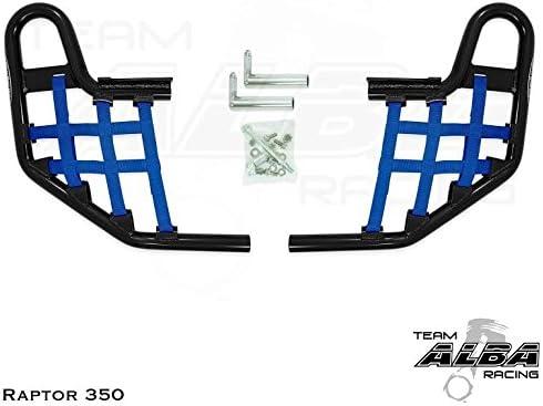 Raptor 350 OFFicial mail order outlet YFM Standard Nerf Bars Compatib Net Black Blue w