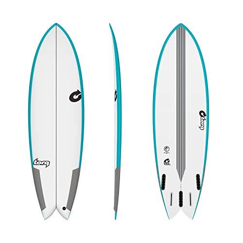TORQ Epoxy Tec Quad Twin Fish 7.2 - Tabla de Surf, Color Azul