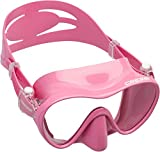 Cressi F1 Mask Máscara Monocristal Tecnología Frameless, Unisex, Rosa, L