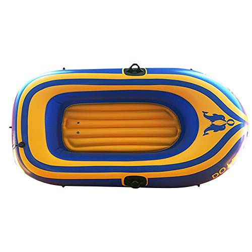 Gommone, Outdoor Gonfiabile Kayak con Remi Pompa Ad Aria Portatile Resistente Pesca PVC Rafting Inflatable Boat Boat per Lago di Pesca Rafting di Pesca Esterna, Padre-Figlio attività