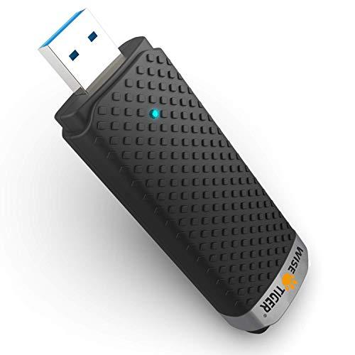 Adattatore WiFi USB Dongle chiave WiFi 1300 Mbps AC 5 GHz / 2,4 GHz Dual Band, adattatore wireless WiFi compatibile con Windows 7/8 / 8.1 / 10 / Mac OS 10.6-10.14
