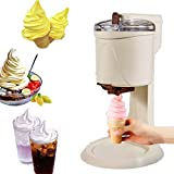 WZLJW Soft Serve Ice Cream Machine, Home DIY Kitchen Automatic Mini Fruit Soft Serve Ice Cream Machine,...