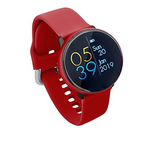 Sami - Dynamic - Smartwatch, Smartband, Pulsera de Actividad Deportiva. Color Rojo. Compatible Android y Apple. Cámara, GPS, presión sanguínea, Fuerza G, Multideportivo. Iconos 3D dinámicos