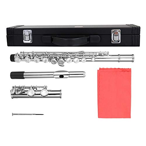 16 Löcher C Key Flute Vernickeln Flöten for Anfänger Band Performance-Grading-Test Holzblasinstrument handgemachte Flöte