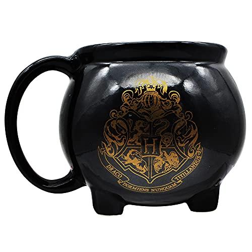 Caneca 3D Formato Caldeirão Hogwarts Harry Potter 500 ml