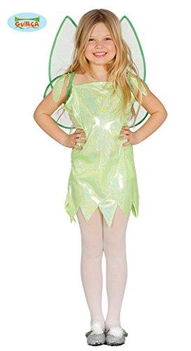 Guirca Tinkerbell - Disfraz de hada verde, para carnaval, para nia