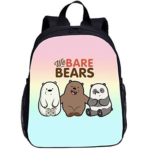 Noi Bare Bears Cartoon Animation Zaino per la scuola, zaino per bambini, zaino per la scuola, zaino in nylon impermeabile, N04 (Beige) - SE0FG54E