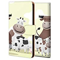 Android One S6 ケース 手帳型 アンドロイド ワン S6 カバー おしゃれ かわいい 耐衝撃 花柄 人気 純正 全機種対応 WX001-乳牛一家 アニメ かわいい アニマル 3113754