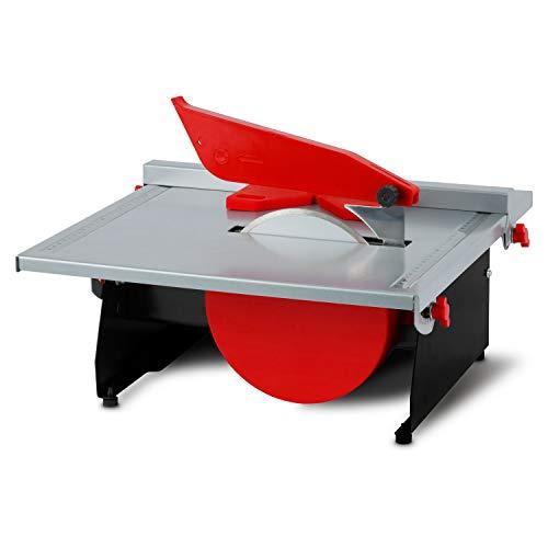 EBERTH 600 Watt elektrische Fliesenschneidemaschine (stufenlos schwenkbar bis 45°, Parallelanschlag, 180 mm Diamanttrennscheibe, Wasserbad)