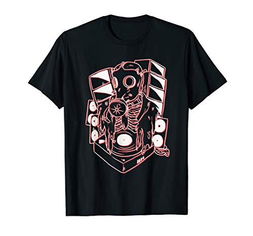 FreeTekno Freetek Vinyl Gas Maske Tekno Hardtek Frenchcore T-Shirt