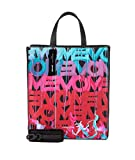 Liebeskind Berlin Damen Paper Bag Graffiti Animation - Tote Medium Mehrfarbig (Black W. Poppy Red), 15x34x29 cm